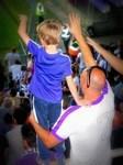 Père et fils pour supporter Ujpest