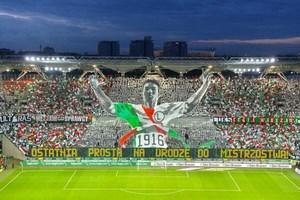 Tifo des supporters du Legia