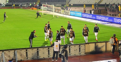 Avant match Partizan Besiktas