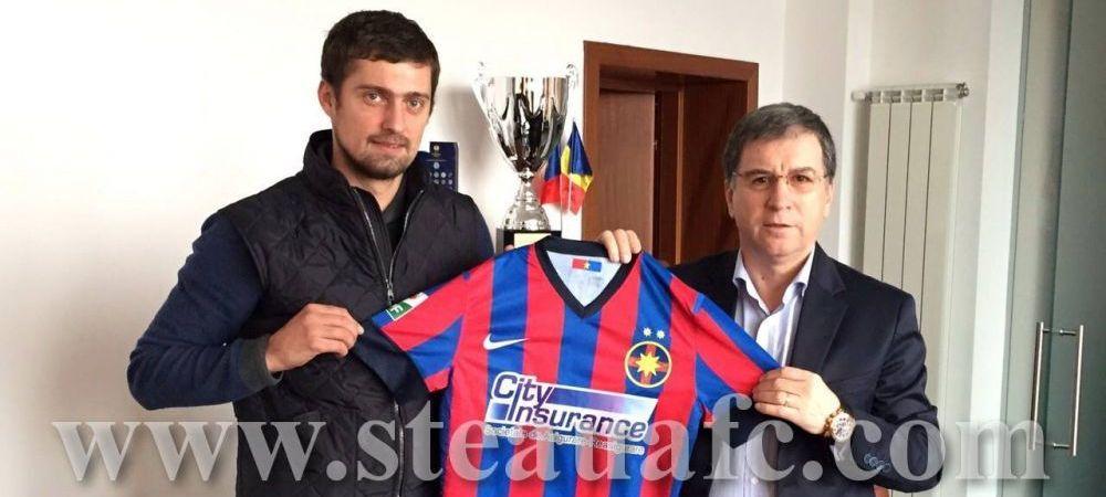 Le Steaua officialise l'arrivée de Gabriel Tamaș avec son nouveau logo.