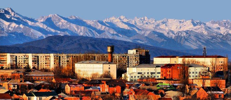 La ville de Vladikavkaz en Alanie