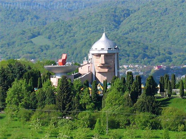 Bâtiment reconnaissable de Nalchik