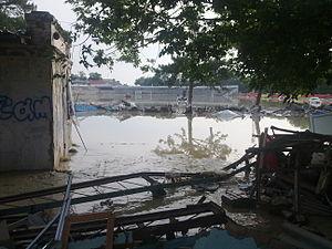 Le stade du Vityaz, inutilisable depuis les innondations