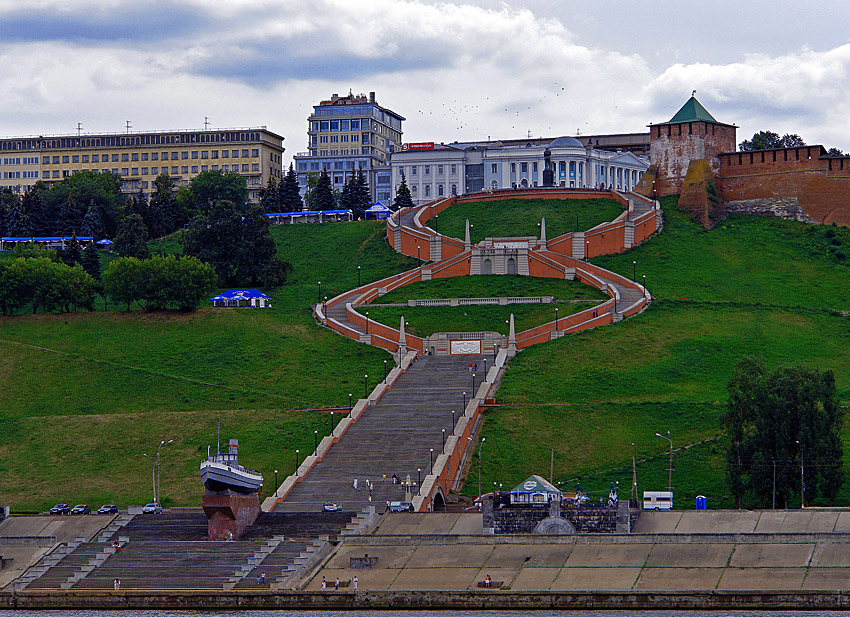 L'escalier monumental de Nizhny Novgorod
