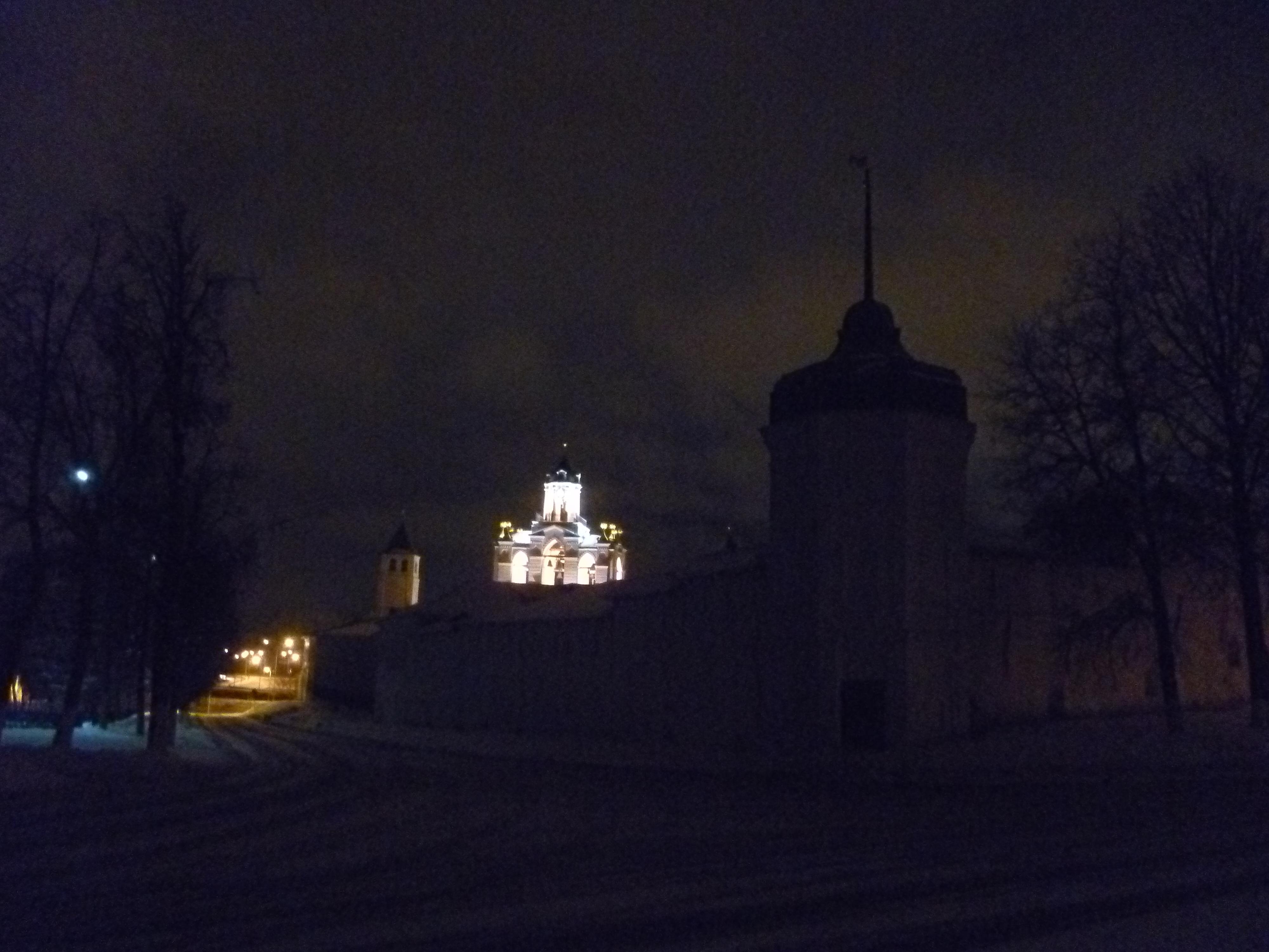 Le Kremlin de Yaroslavl de nuit