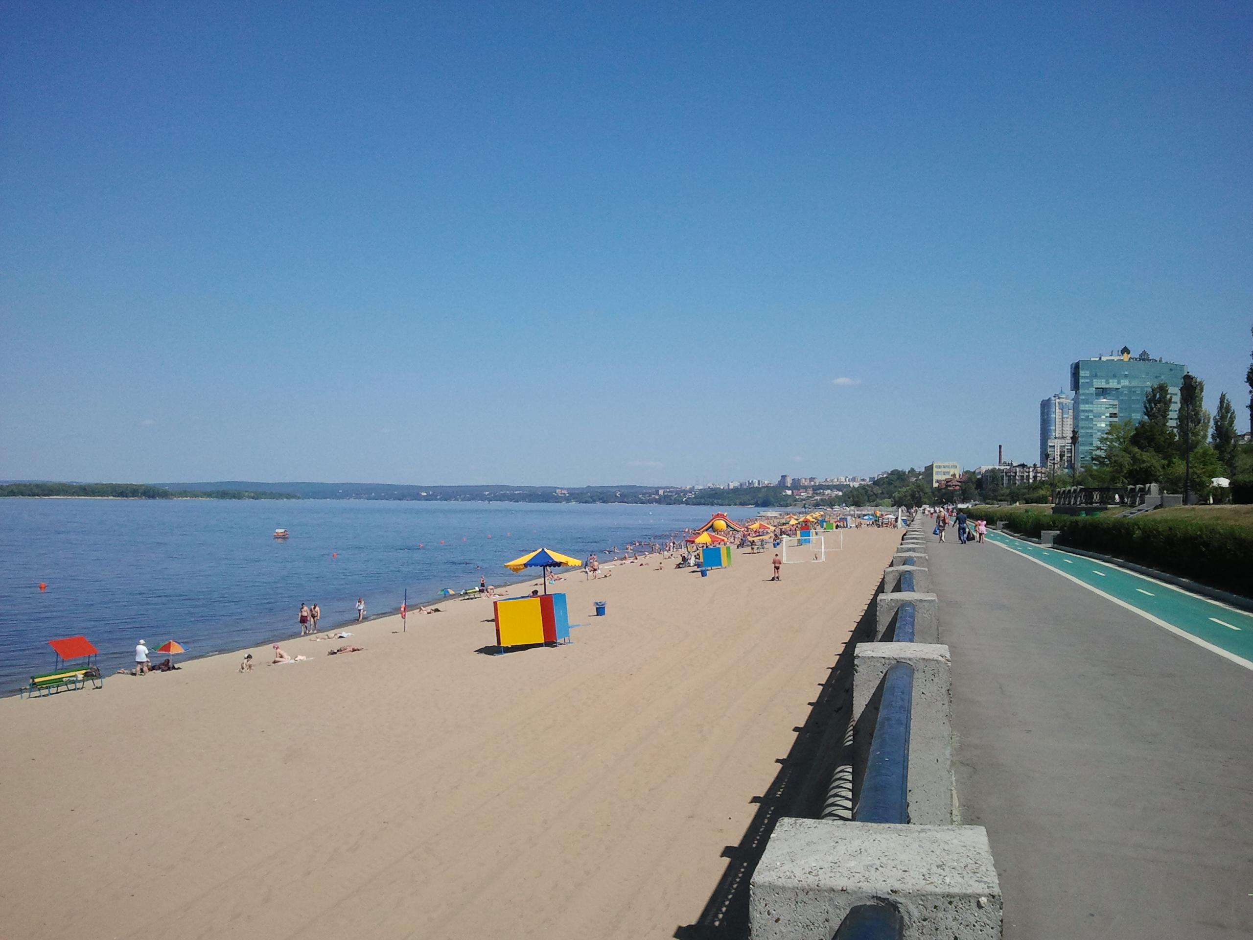 Samara et sa plage sur la Volga