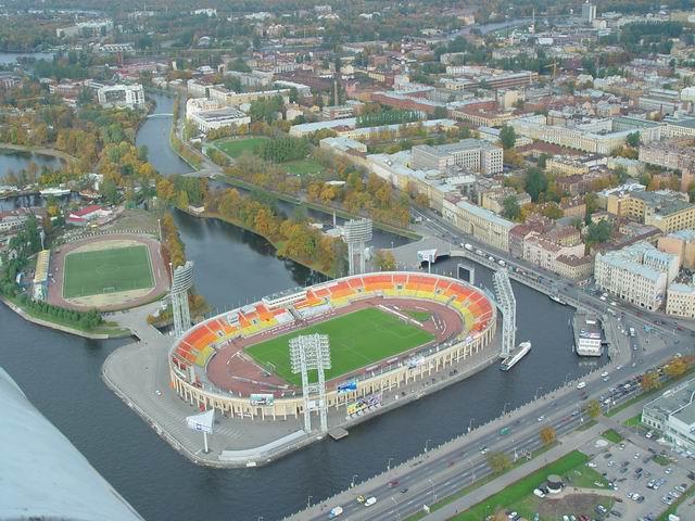 Le stade du Dinamo (arrière-plan) le plus petit de FNL