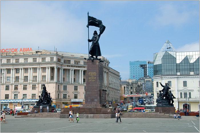 La célèbre place de Vladivostok