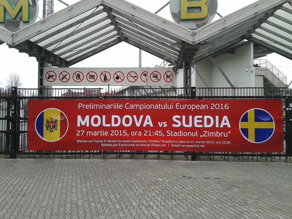 Moldova - Suedia - Zimbru Arena