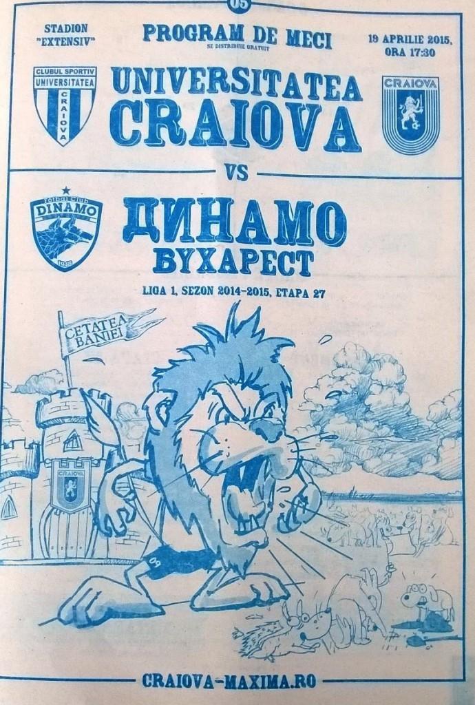 Programme Craiova-Dinamo