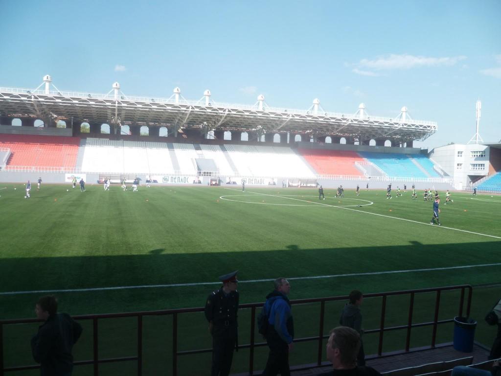 Le stade Tsentralniy avant une rencontre face au Gornyak Uchaly