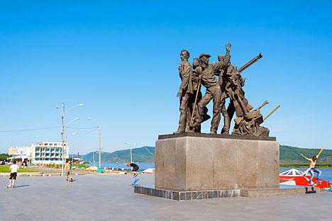Un autre monument très communiste, sur les bords de l'Amour