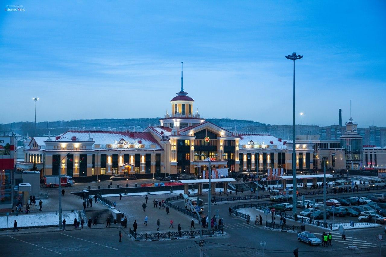 La gare centrale de Novokuznetsk