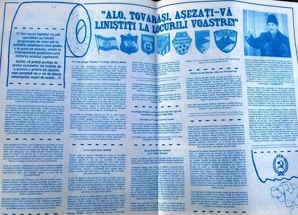 programme Craiova Dinamo