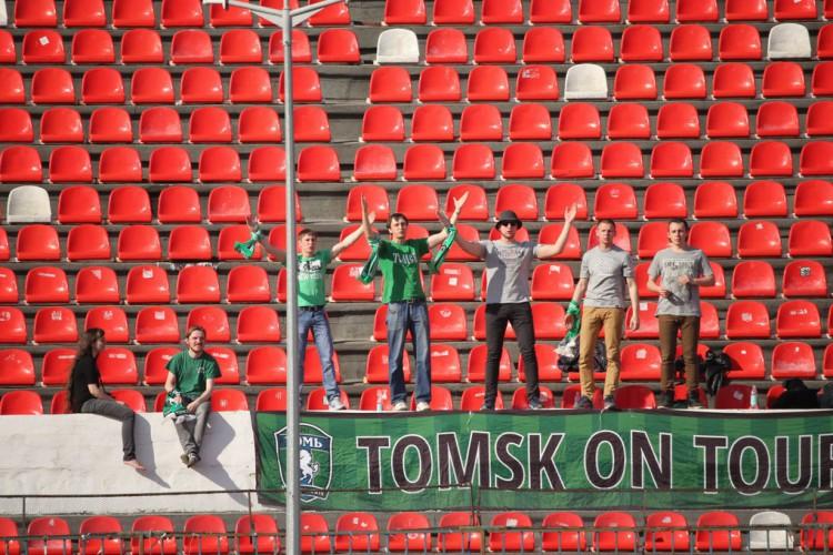 Les fans de Tomsk n'ont pas fait le long déplacement pour rien