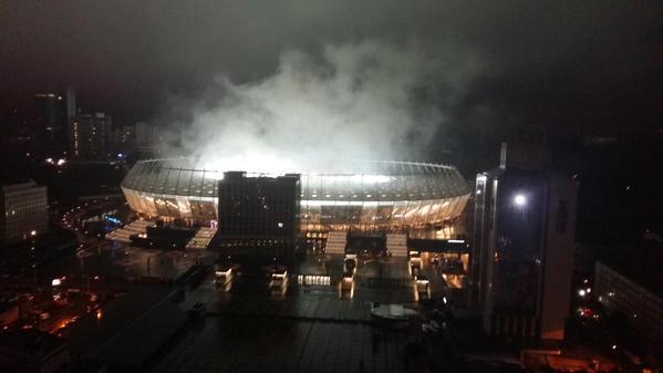 Le Stade Olympique de Kiev en ébulition