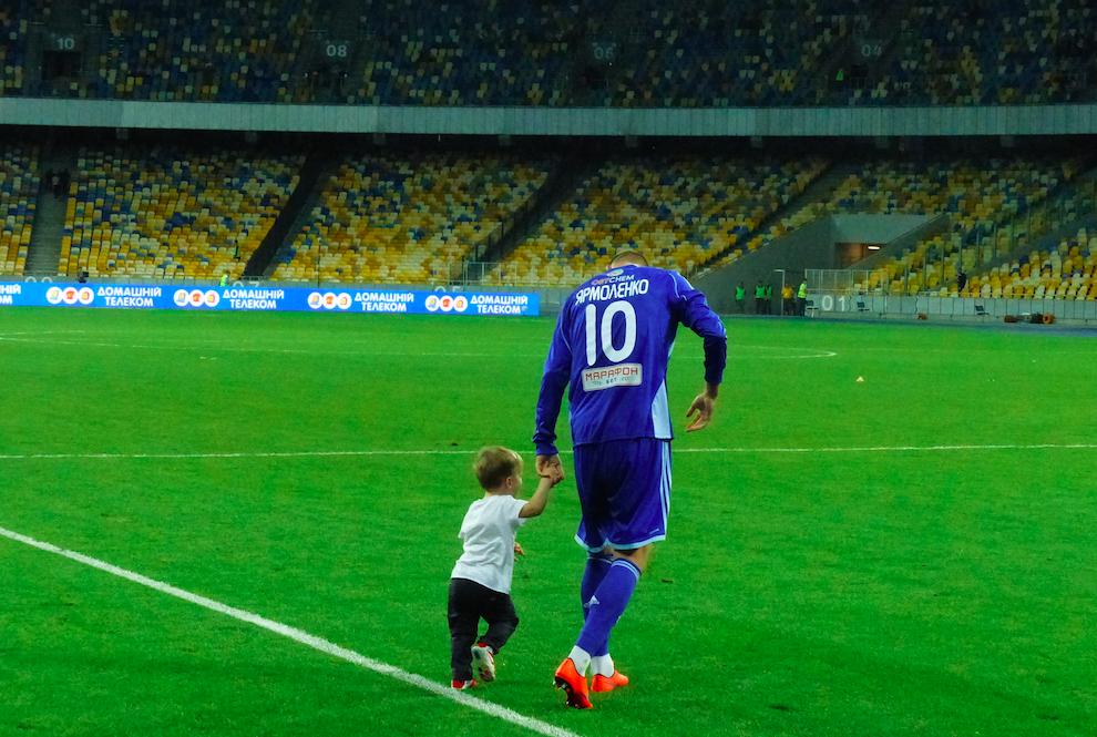 Andriy Yarmolenko, joueur du Dynamo et soutien actif des pro-européens lors des évènements de Maidan.