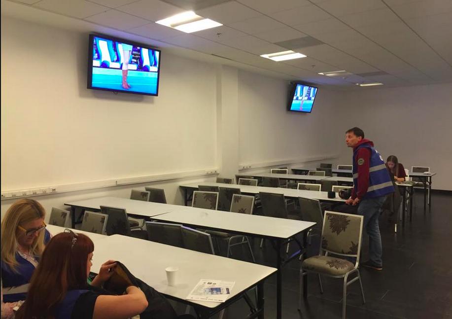 La Médiaroom du Dynamo Kiev.