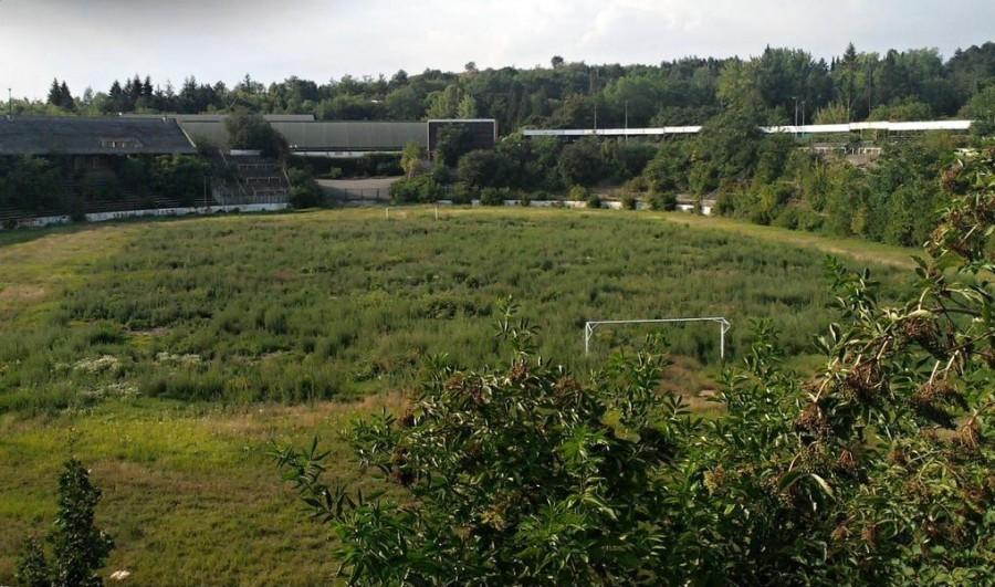 Stade Za Lužánkami Brno avant travaux