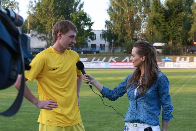 L'une des dernières interview de Kristina, après Spartak Shklov - BATE en coupe