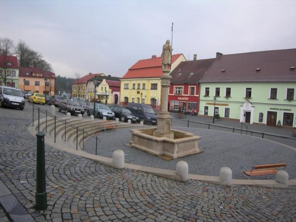 Le centre de Vlasim.