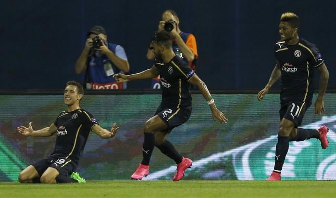 La joie des croates qui font chuter Arsenal au terme d'une soirée historique