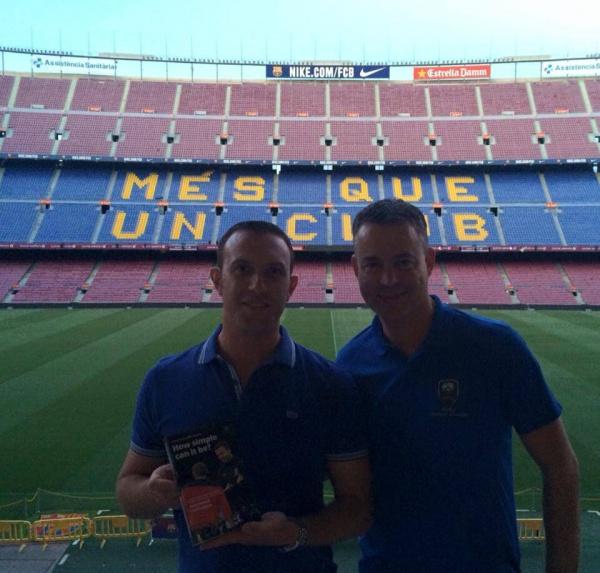 Ici avec Raymond Verheijen à Barcelone