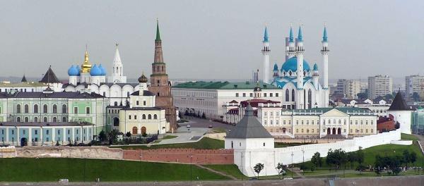 Le Kremlin de Kazan et sa mosquée.